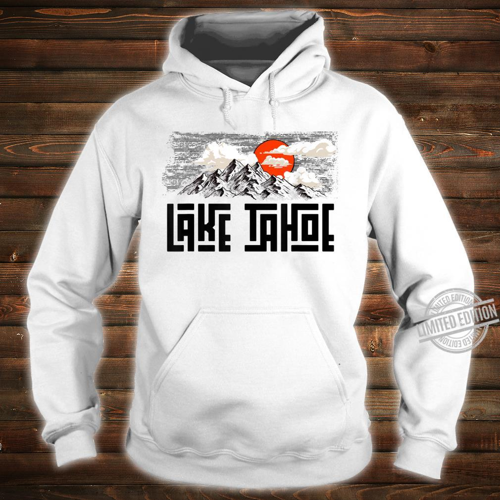 Lake Tahoe Mountains Sketch Explore Vintage Shirt hoodie