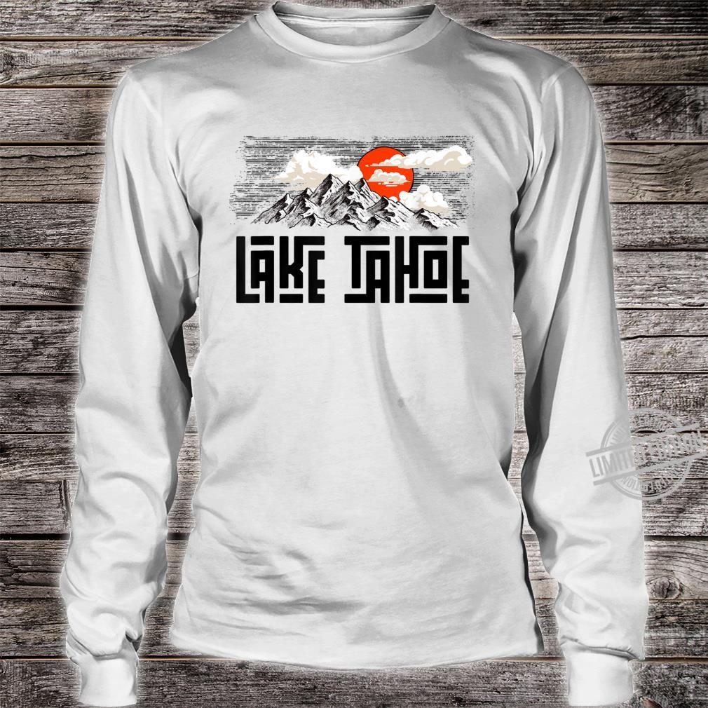 Lake Tahoe Mountains Sketch Explore Vintage Shirt long sleeved