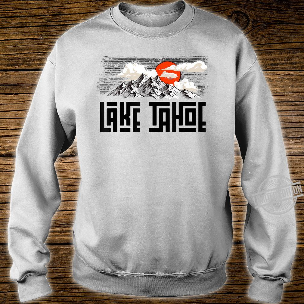 Lake Tahoe Mountains Sketch Explore Vintage Shirt sweater