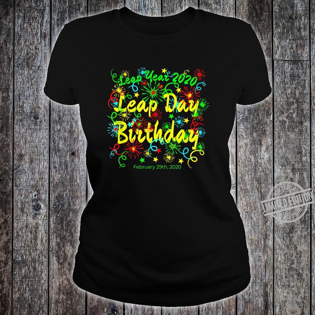 Leap Year Birthday February 29th 2020 Shirt ladies tee