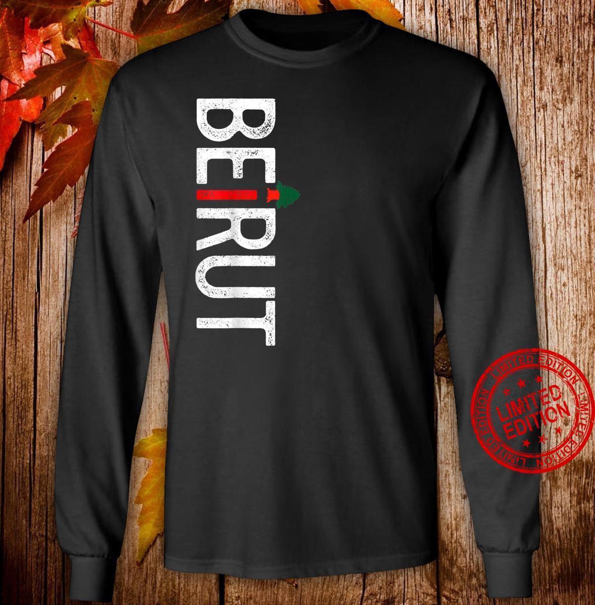 Lebanon Flag Lebanese Pride, Beirut Lebanon Shirt long sleeved