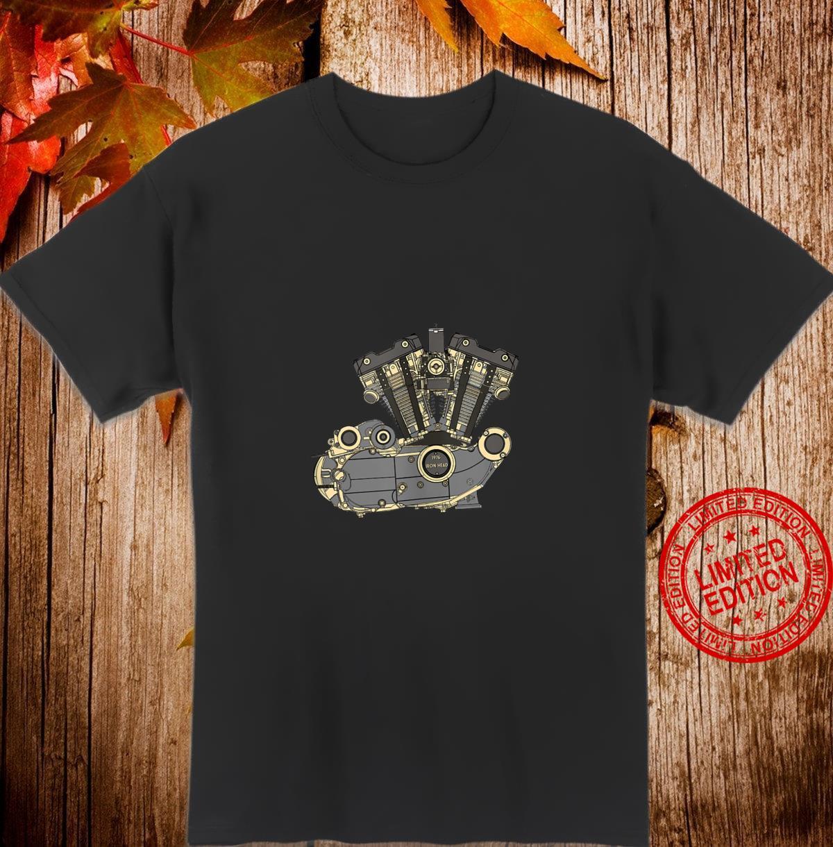 Legendary American 1976 Iron Head Motorcycle Engine Shirt