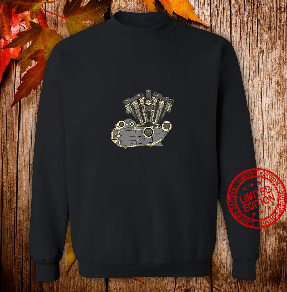 Legendary American 1976 Iron Head Motorcycle Engine Shirt sweater