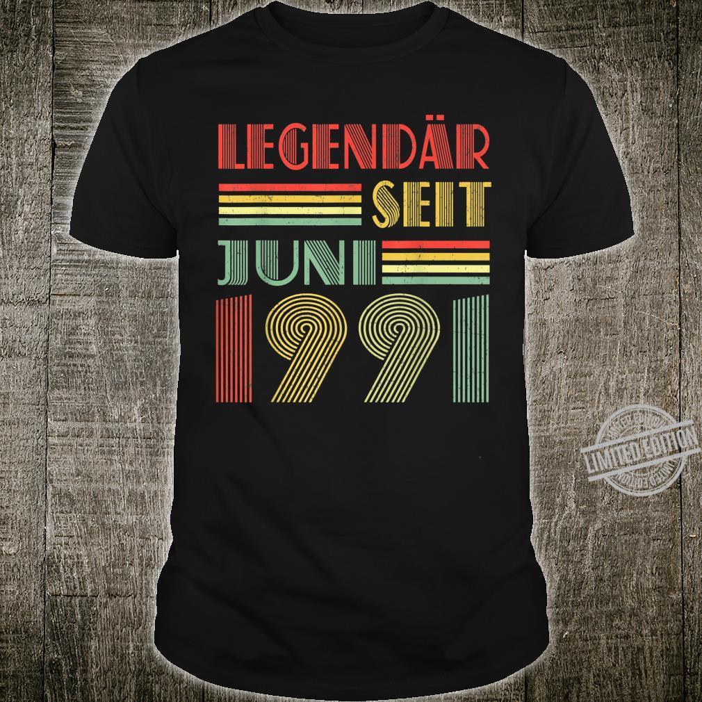 Legendär Seit Juni 1991 29th Birthday Vintage Shirt