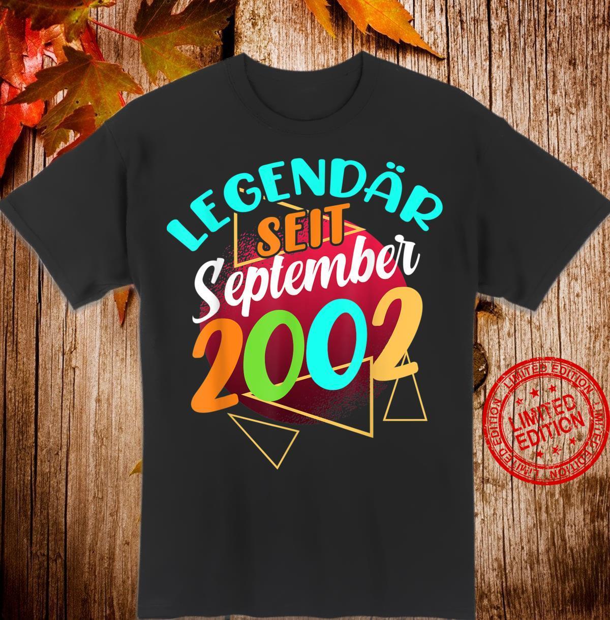 Legendar Seit September 2002 18 Geburtstag Geschenk Manner Shirt