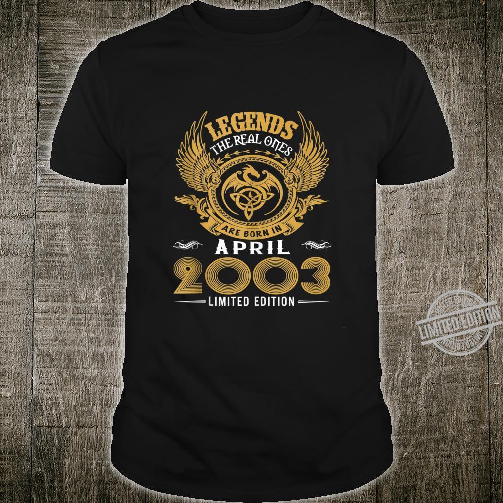 Legends 17th Birthday Idea Born in March 2003 Shirt