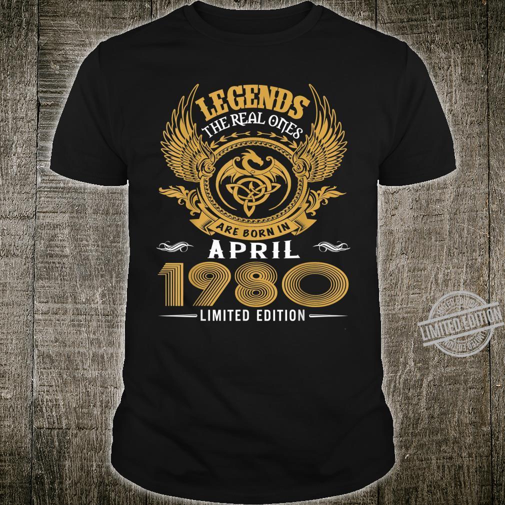Legends 40th Birthday Idea Born in March 1980 Shirt