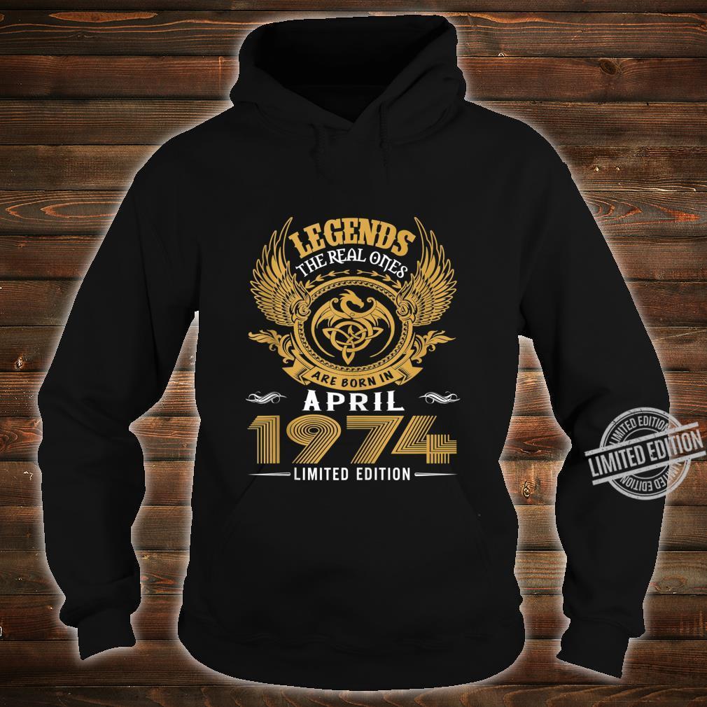 Legends 46th Birthday Idea Born in March 1974 Shirt hoodie