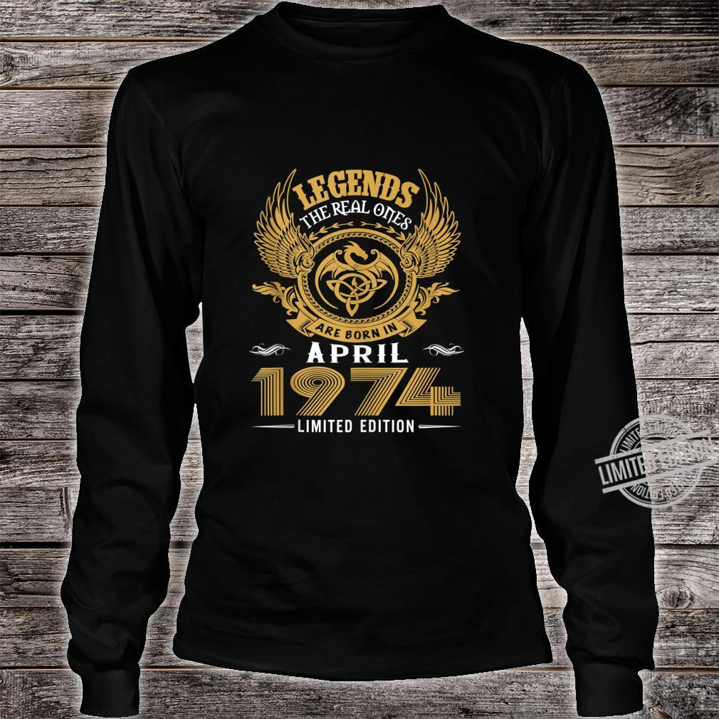 Legends 46th Birthday Idea Born in March 1974 Shirt long sleeved