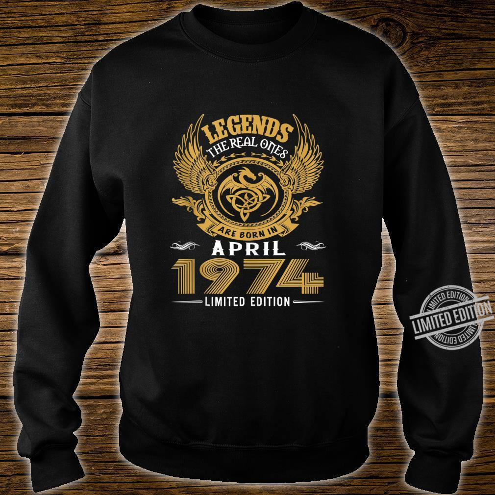 Legends 46th Birthday Idea Born in March 1974 Shirt sweater