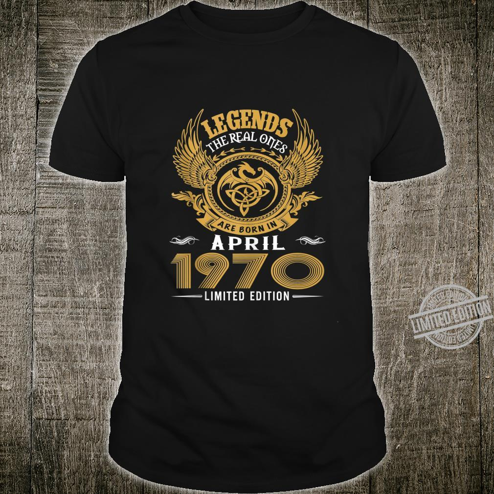 Legends 50th Birthday Idea Born in March 1970 Shirt