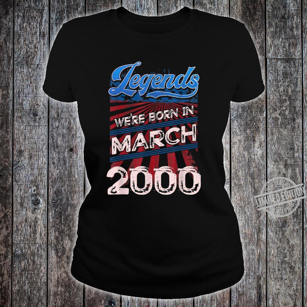 Legends Were Born In March 2000 20th Birthday Shirt ladies tee