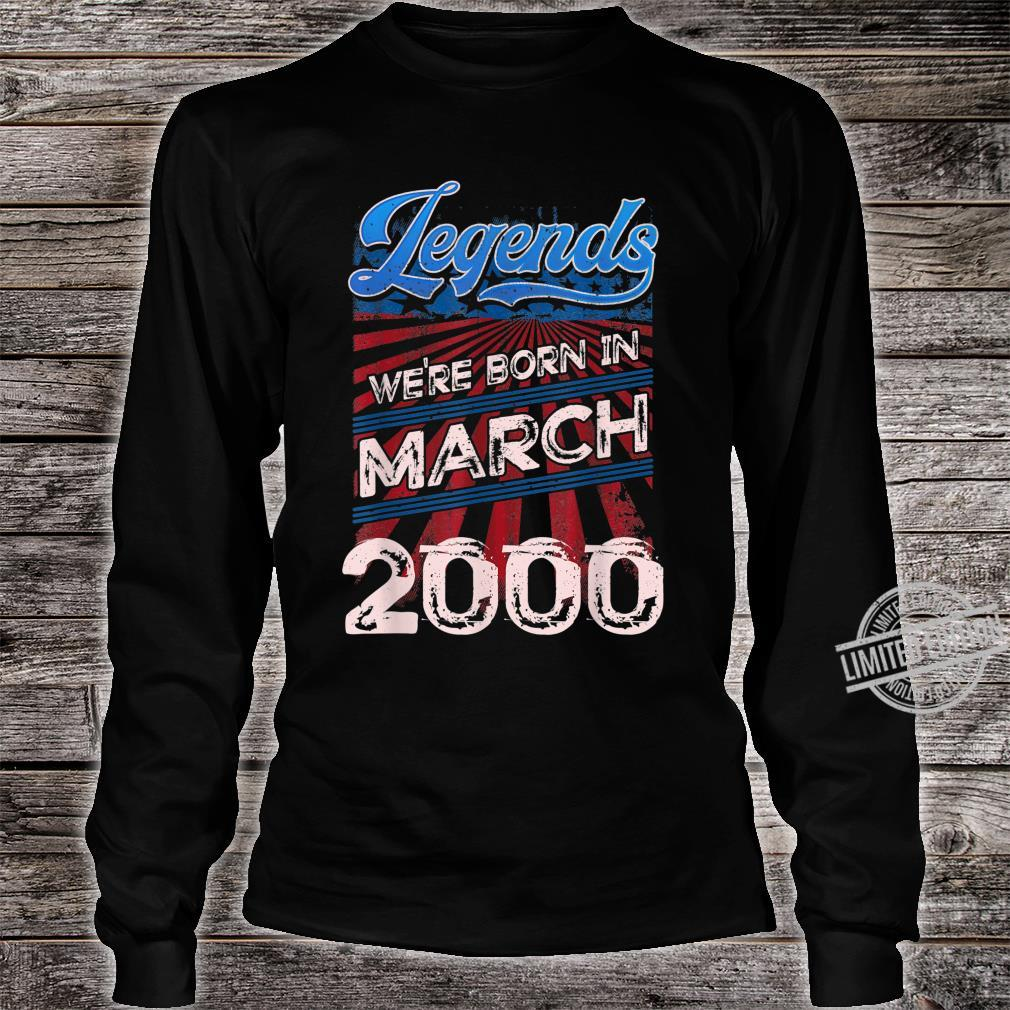 Legends Were Born In March 2000 20th Birthday Shirt long sleeved