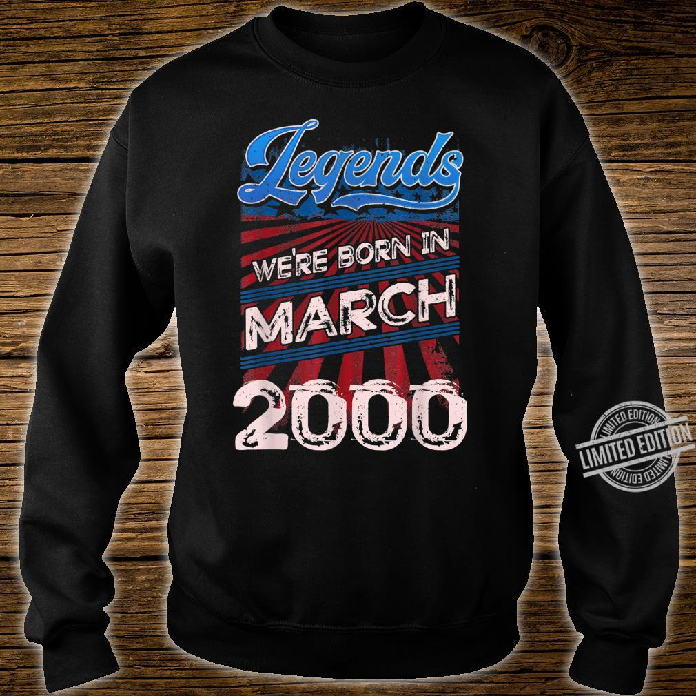 Legends Were Born In March 2000 20th Birthday Shirt sweater