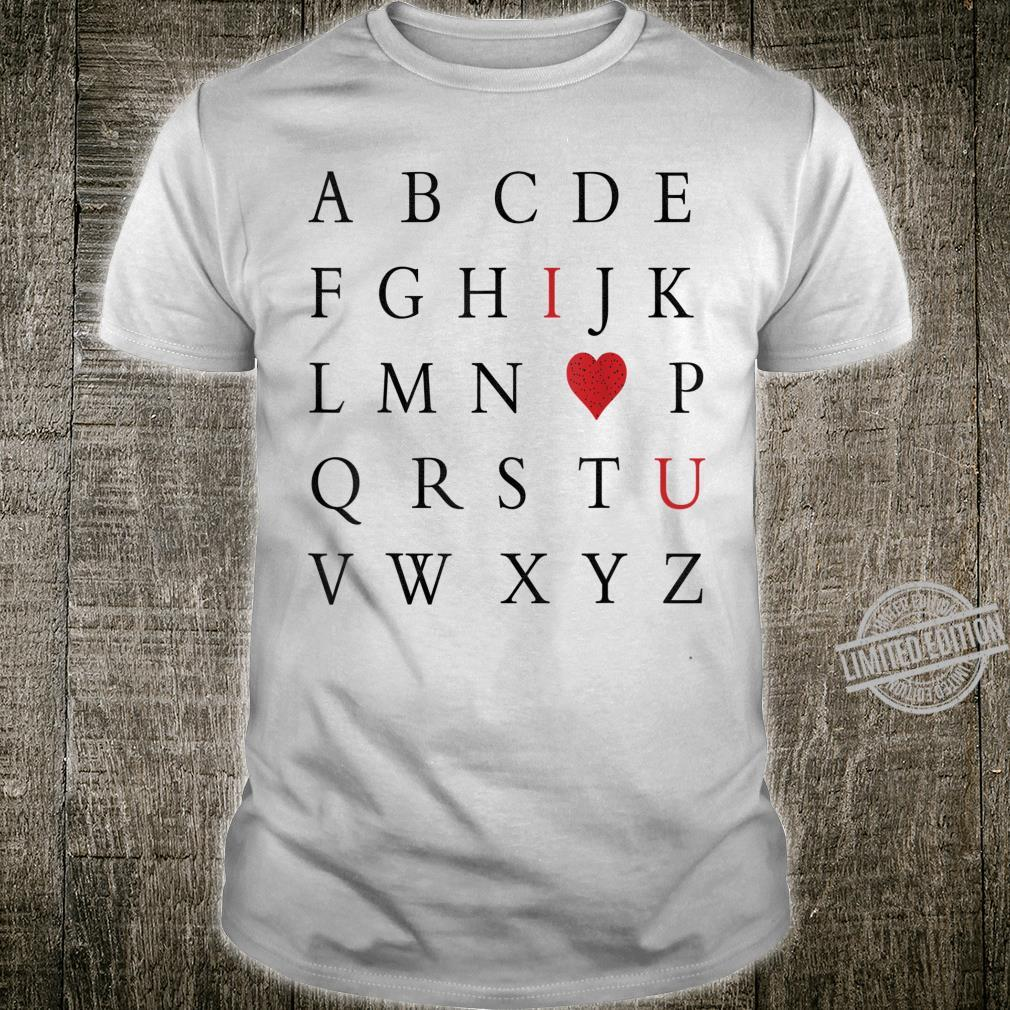 Letters I Love You With Heart Valentine's Day Teacher Shirt