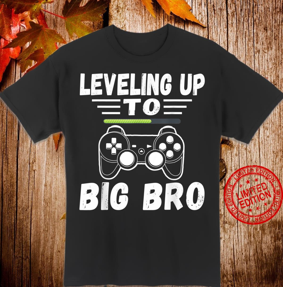 Leveling Up To Big Bro Again Loading Future Brother Shirt