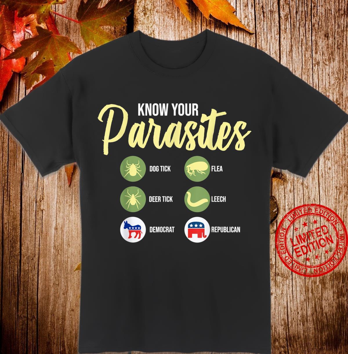Libertarian Shirt Know Your Parasites Shirt