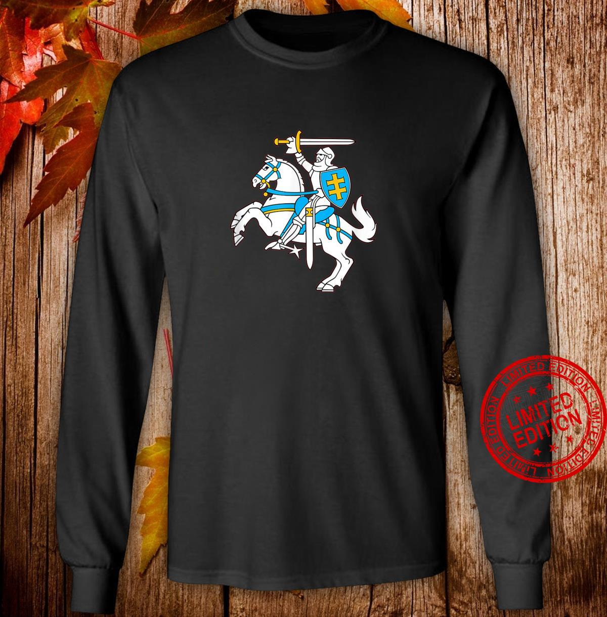 Lithuanian Coat Of Arms Vytis Shirt Lietuva Pride Shirt long sleeved