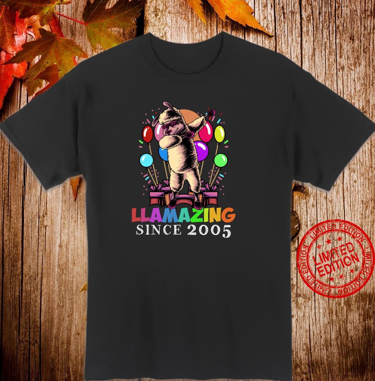 Llamazing Since 2005 Birthday Girl Boy Shirt