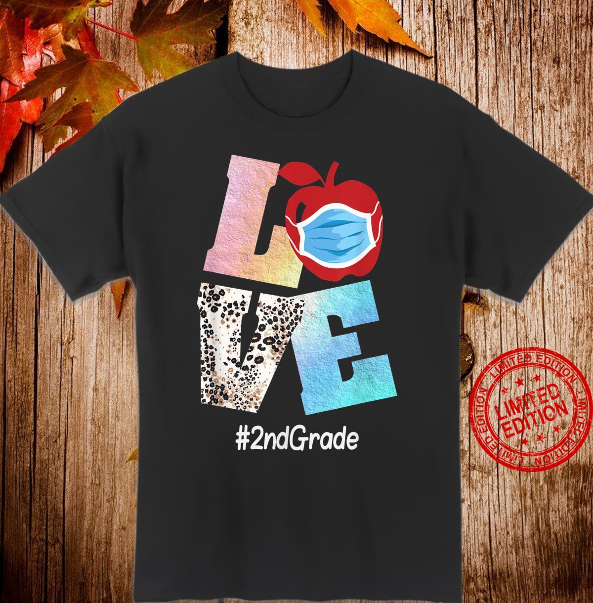 Love 2nd Grade Apple Back To School Teacher Shirt