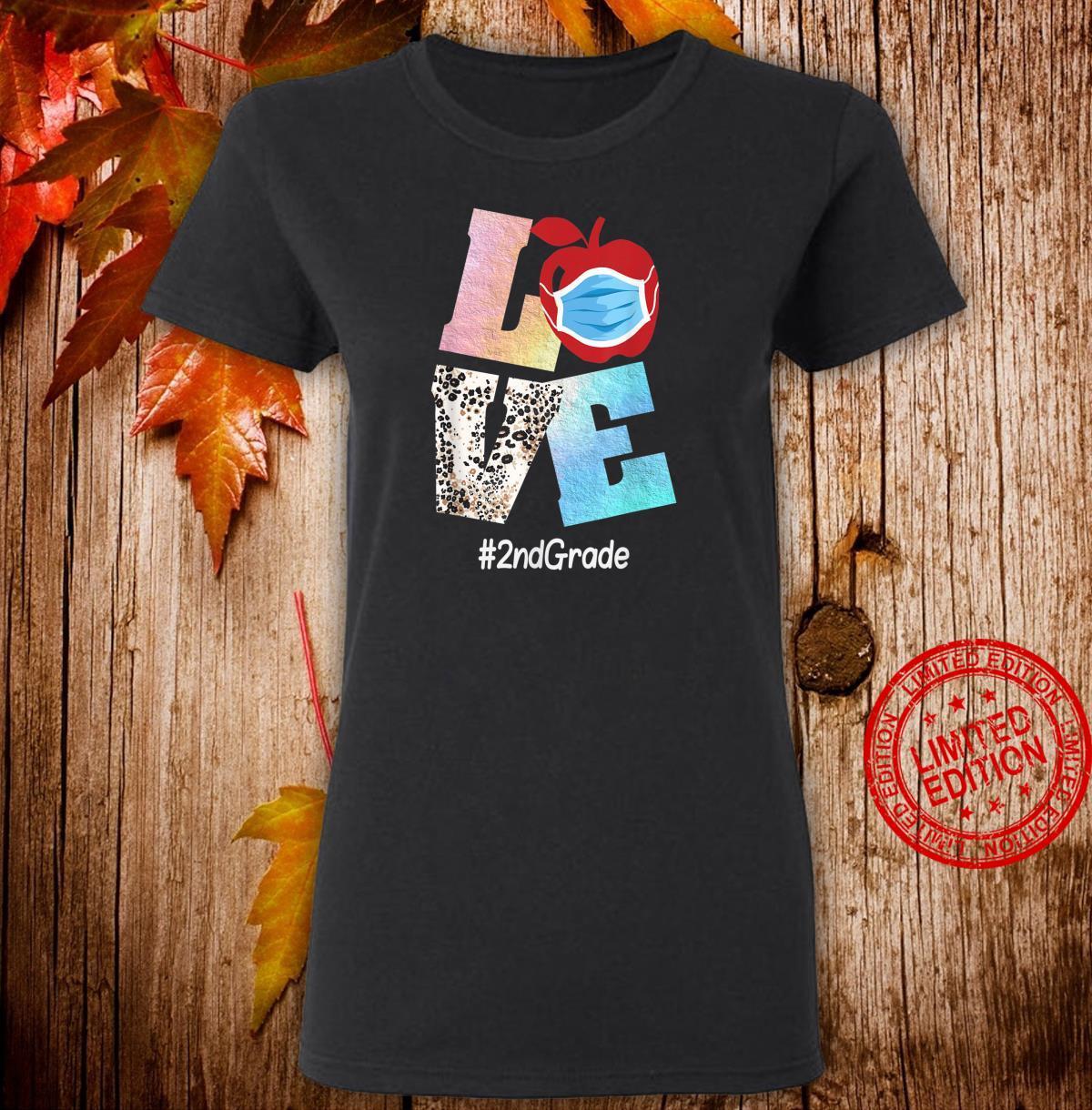 Love 2nd Grade Apple Back To School Teacher Shirt ladies tee