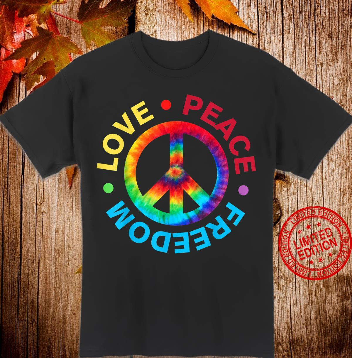Love Peace Freedom 60's 70's Hippie Costume Tie Die Shirt