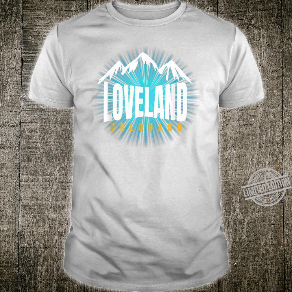 Loveland CO Sky Colorado Blue Skyline Mountain Ski Snowboard Shirt