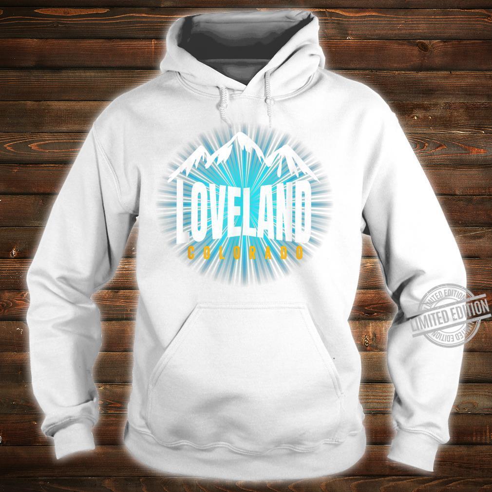 Loveland CO Sky Colorado Blue Skyline Mountain Ski Snowboard Shirt hoodie