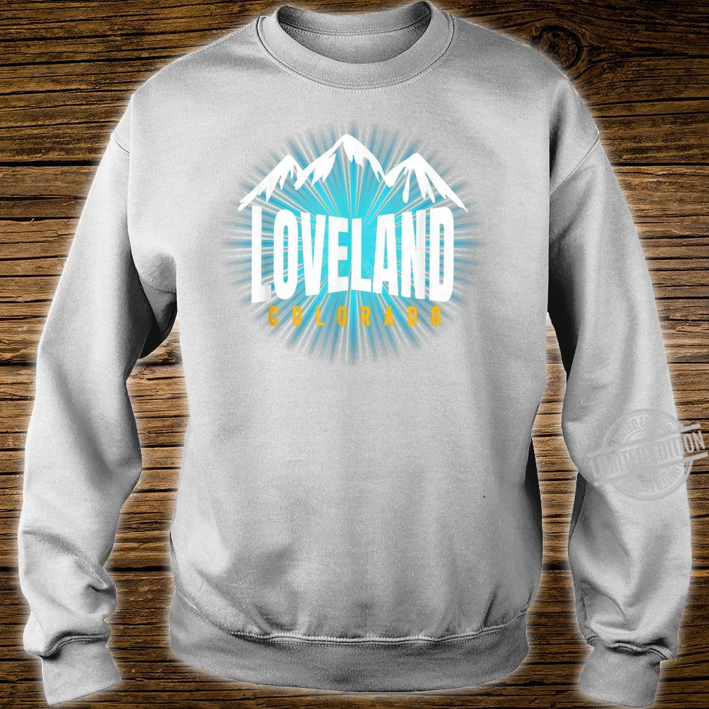Loveland CO Sky Colorado Blue Skyline Mountain Ski Snowboard Shirt sweater