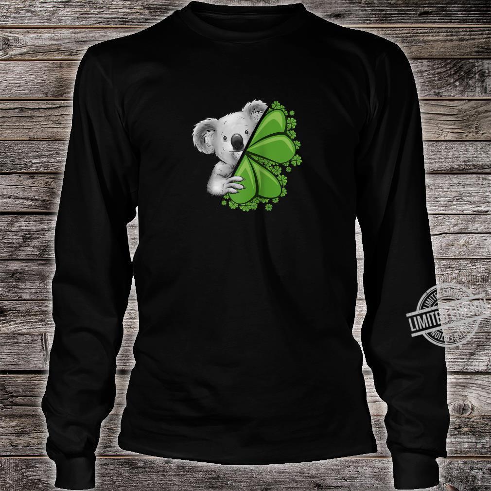 Lucky Irish Koala Clover & Shamrocks St Pattys Day Shirt long sleeved