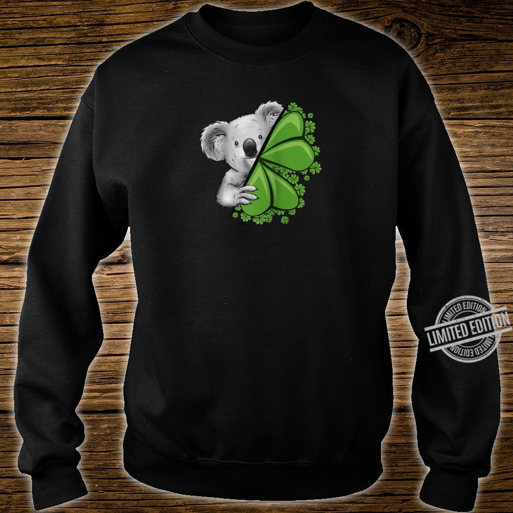 Lucky Irish Koala Clover & Shamrocks St Pattys Day Shirt sweater