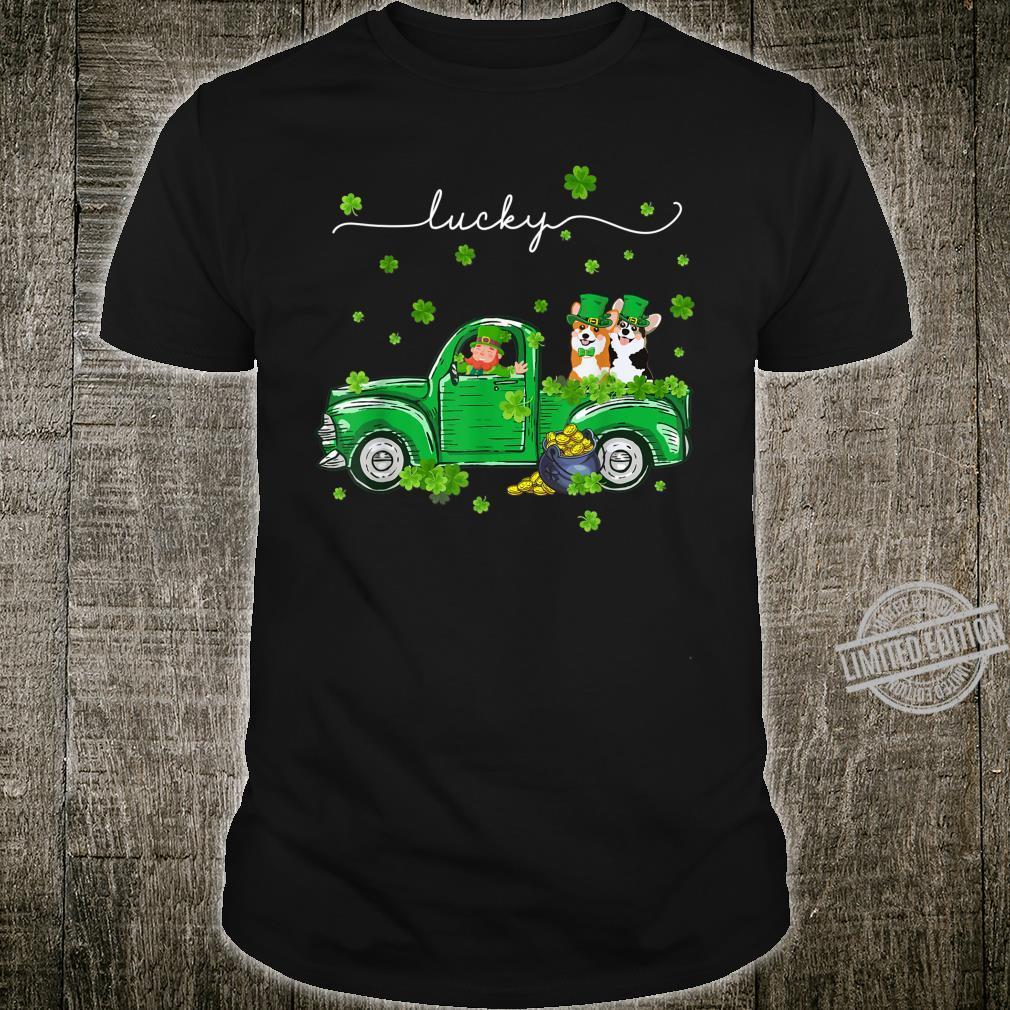 Lucky Leprechaun Corgi Truck St Patrick's Day Shirt