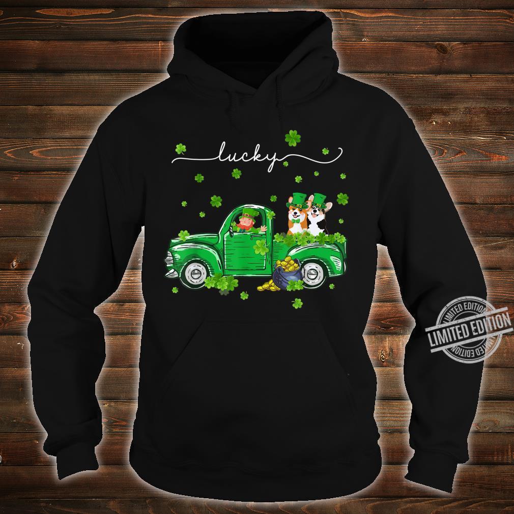 Lucky Leprechaun Corgi Truck St Patrick's Day Shirt hoodie