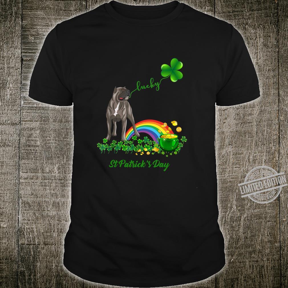 Lucky Saint Cane Corso Dog Shamrock St Patrick Day Shirt