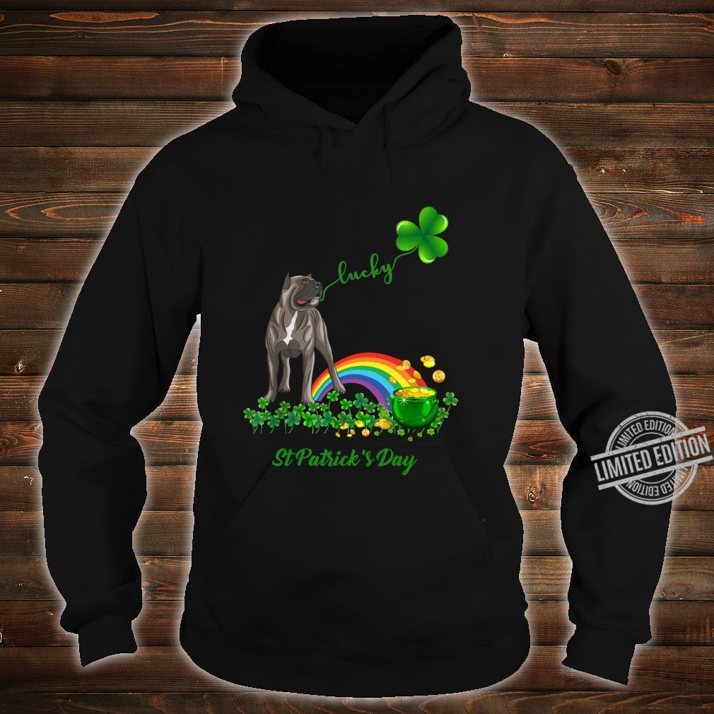 Lucky Saint Cane Corso Dog Shamrock St Patrick Day Shirt hoodie