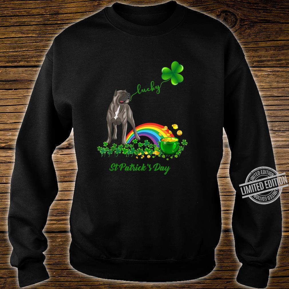 Lucky Saint Cane Corso Dog Shamrock St Patrick Day Shirt sweater