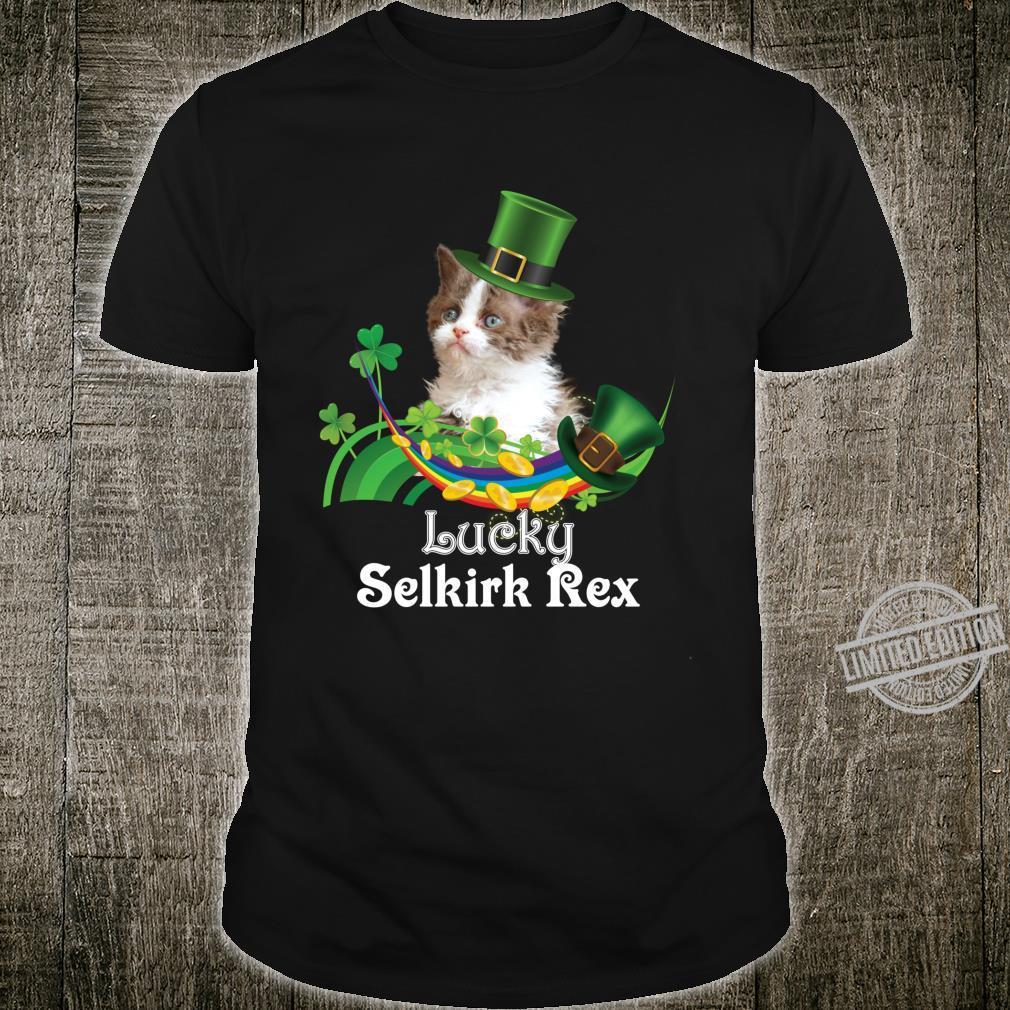 Lucky Selkirk Rex Cat Leprechaun Shamrock St. Patrick Day Shirt