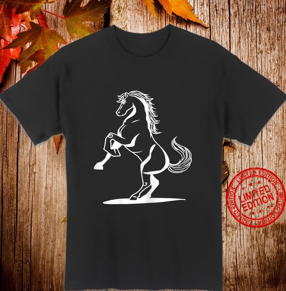 Lustige Pferde Reitsport Reiten Springreiten Hengst Stute Shirt
