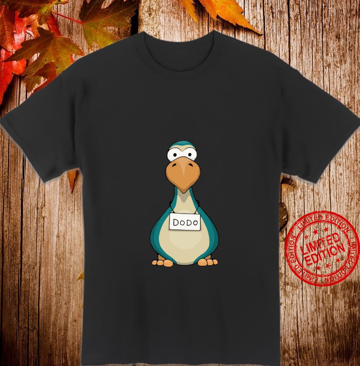 Lustiger Comic Vogel als Fahndungsfoto Dodo Shirt