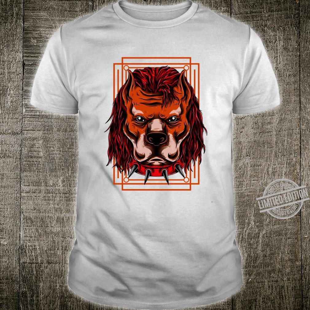 Mad Dog Bull Punk Brown Red Racerback Shirt