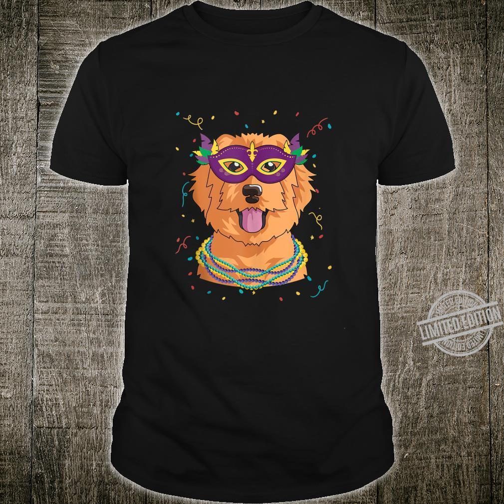 Mardi Gras Golden Doodle Shirt Fat Tuesday Dog Shirt