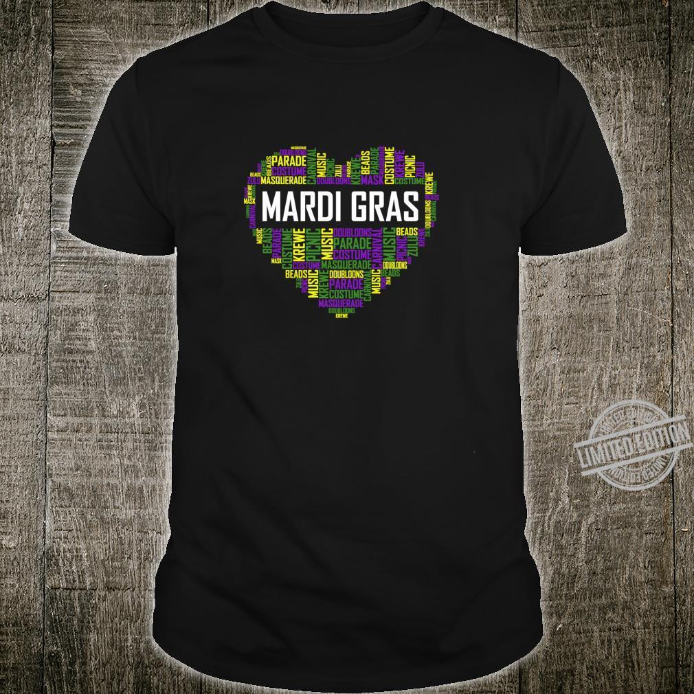 Mardi Gras and Heart Shirt