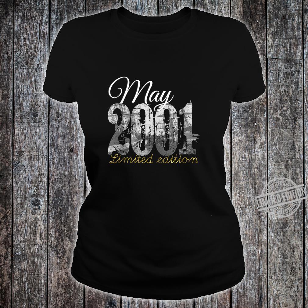 May 2001 19 Year Old Shirt 2001 19th Birthday Shirt ladies tee