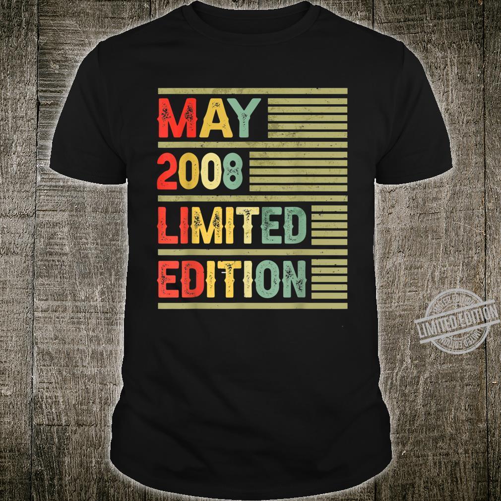 May 2008 Limited Edition Retro Vintage 12th Birthday Shirt