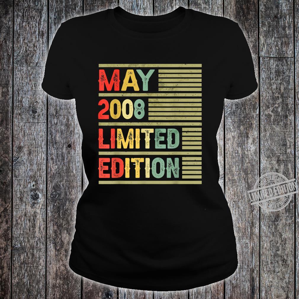 May 2008 Limited Edition Retro Vintage 12th Birthday Shirt ladies tee