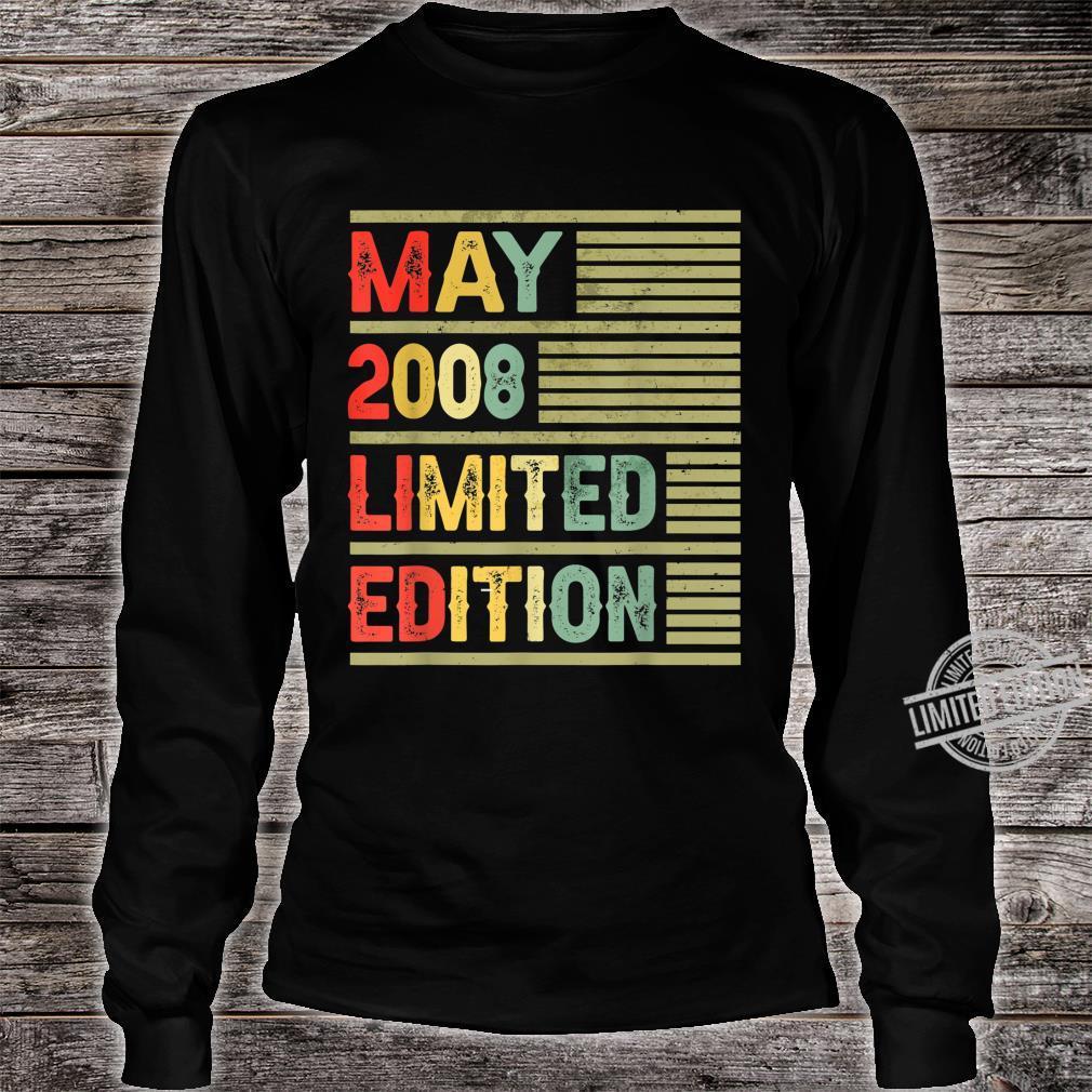 May 2008 Limited Edition Retro Vintage 12th Birthday Shirt long sleeved