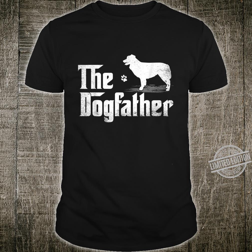 Mens Australian Shepherd The Dogfather Shirt Father's Day Shirt