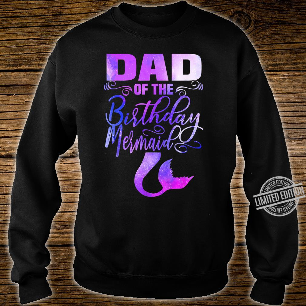 Mens Dad of The Birthday Mermaid Matching Party Outfits Shirt sweater