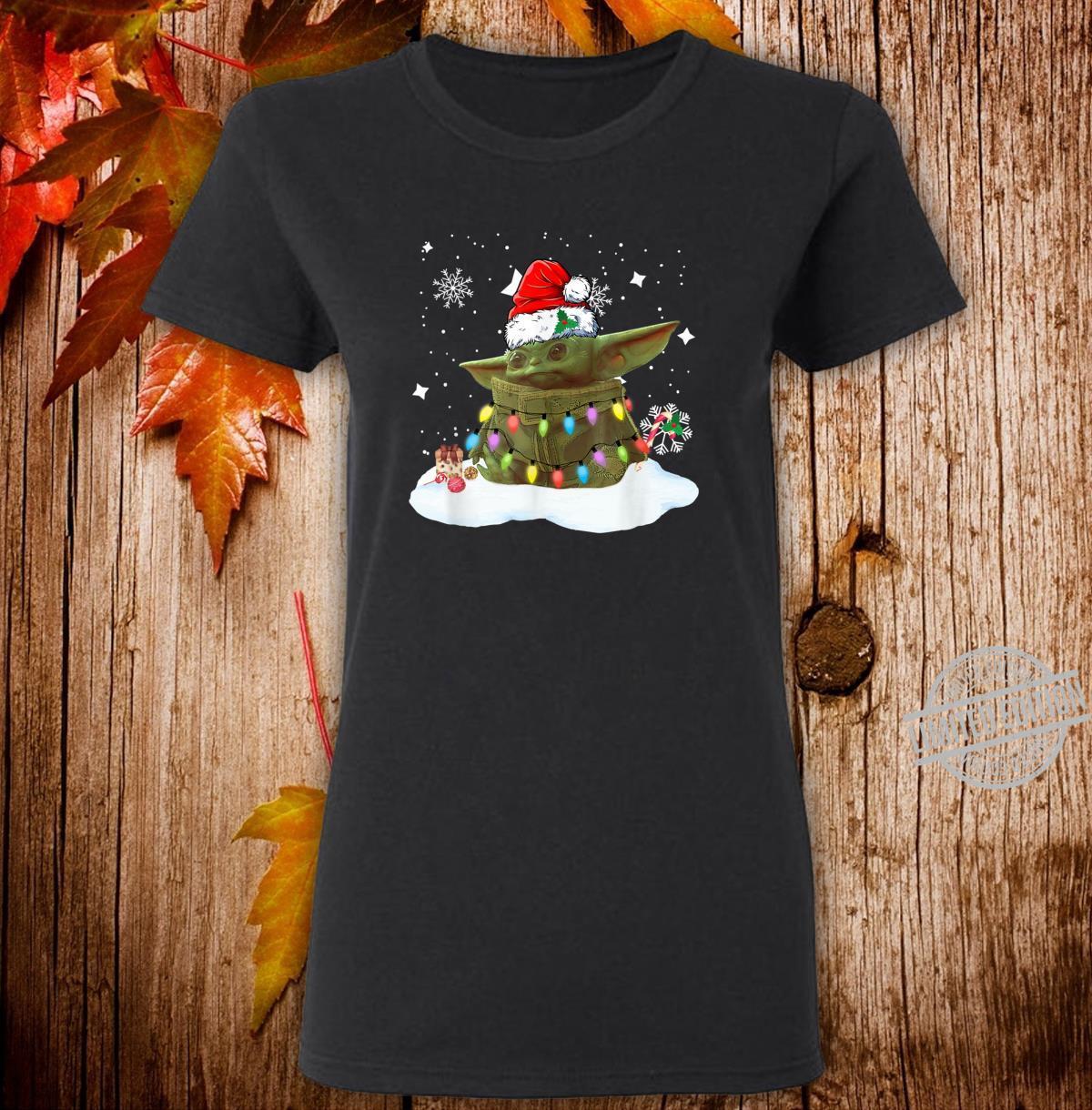 Merry Christmas Movie The Mandalorian Shirt ladies tee