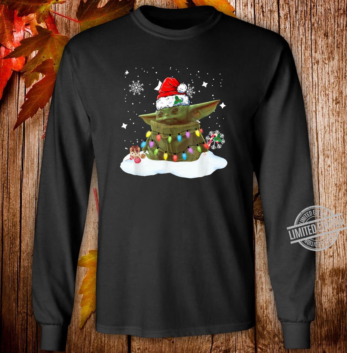 Merry Christmas Movie The Mandalorian Shirt long sleeved